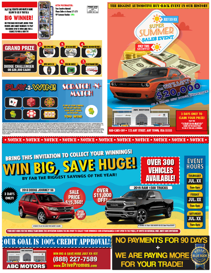 Automotive Direct Mail >> Creative Portfolio Automotive Direct Mail Samples Digital And